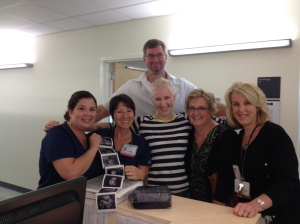 Some of the most fantastic nurses I've ever had. We had just told Dr. Scudder and his nurses the new of Baby Sidney!!!