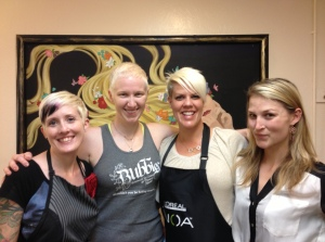 "The ""natural blondes"" at Salon Blonde in Davis. More about these fab gals later."
